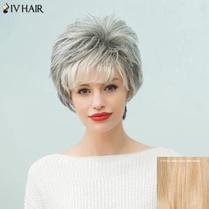 Siv Hair Short Fluffy Capless Human Hair Wig