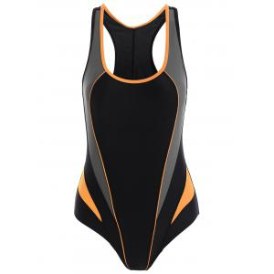 Sports Cut Out One Piece Swimwear