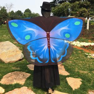 Cartoon Butterfly Wing Shape Cape Chiffon Scarf - Azure - 130*200cm