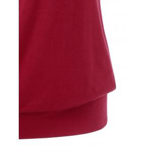 Skew Collar Drape Sleeve T-Shirt -