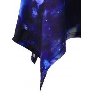 Long Galaxy Asymmetric T-Shirt - PURPLISH BLUE M