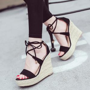 Espadrilles Wedge Heel Sandals -