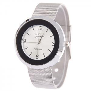 Alloy Mesh Strap Number Watch