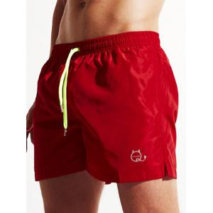 Pocket Drawstring Swimming Trunks -
