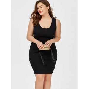 Plus Size Short Sheath Tank Fitted Dress -