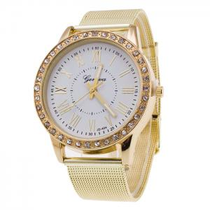 Alloy Band Rhinestone Roman Numerals Watch