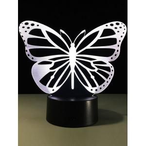 3D Butterfly Color Change LED Touch Night Light - TRANSPARENT