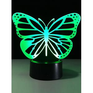 3D Butterfly Color Change LED Touch Night Light