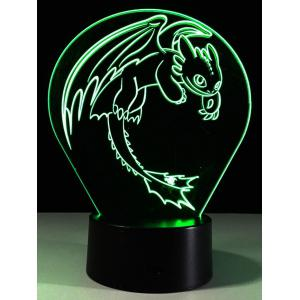 Color Change 3D LED Acrylic Night Light For Children