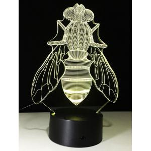 3D Visual Fly Shaped LED Color Change Night Light -