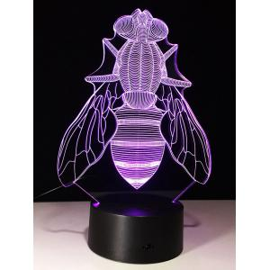 3D Visual Fly Shaped LED Color Change Night Light