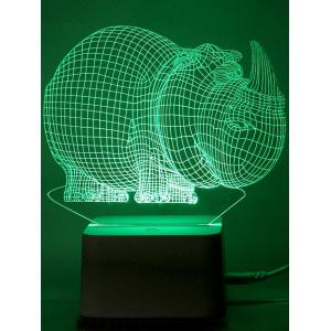 Holiday Gift Rhinoceros Shaped LED Color Change Night Light -