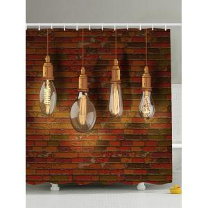 Water Resistant Hanging Bulbs Polyester Shower Curtain