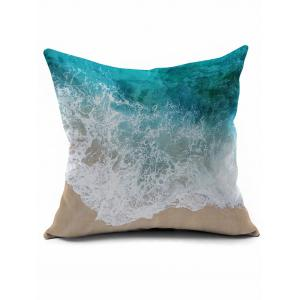 Seawater Print Short Plush Square Pillow Case - Colormix - 45*45cm