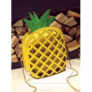 Hollow Out Pineapple Shaped Crossbody Bag -