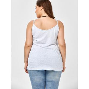 Plus Size Caged Cami Tank Top - SMOKY GRAY 2XL