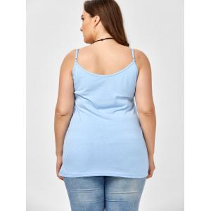 Plus Size Caged Cami Tank Top - ICE BLUE 5XL