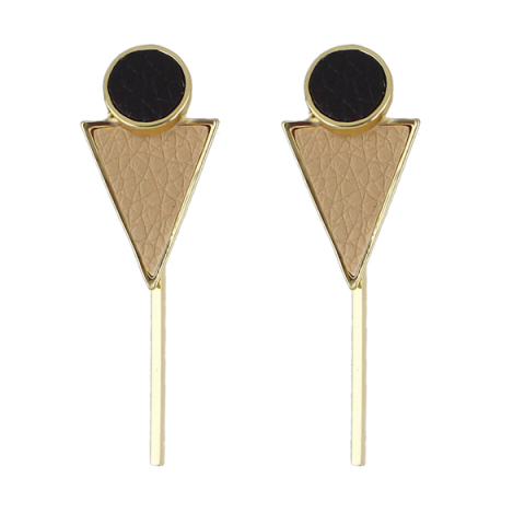 Store Circle Triangle Bar Earrings