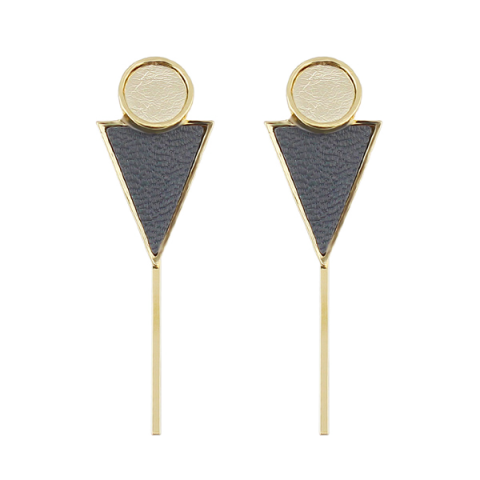 Outfit Circle Triangle Bar Earrings