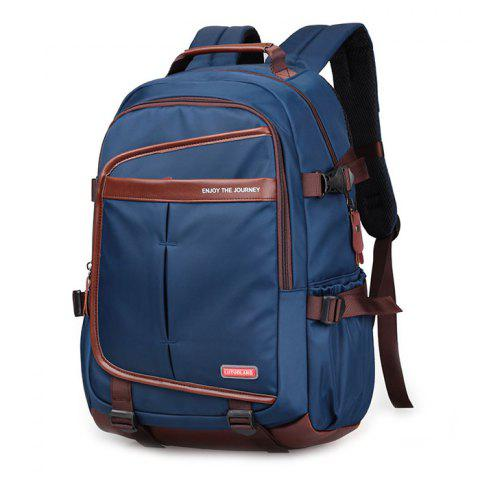 Outfits Casual Pad Shoulder Straps Nylon Backpack - BLUE  Mobile