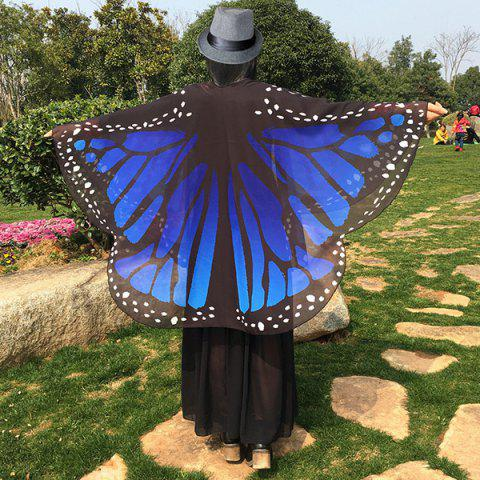 Unique Butterfly Wing Chiffon Pashmina Scarf BLUE