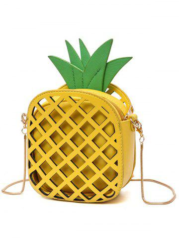 Store Hollow Out Pineapple Shaped Crossbody Bag - YELLOW  Mobile