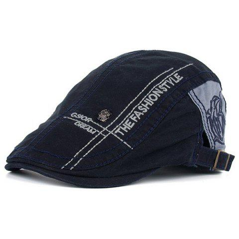 Skull and Embroidery Embellished Jeff Cap - Cadetblue - One Size