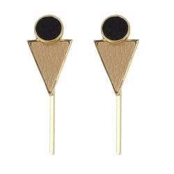 Circle Triangle Bar Earrings