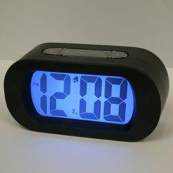 Snooze Alarm LED Digital Clock Silicone - Noir