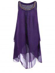 Overlay Tent A Line Dress with Chains -