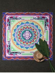 Square Layered Flower Beach Throw Cover - COLORMIX ONE SIZE