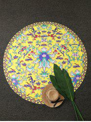 Vintage Imprimé Plage Round Throw -