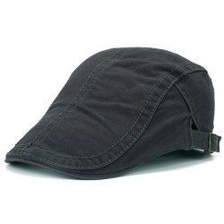 Protection UV Jeff Cap avec Sewing Thread - Gris Foncu00e9
