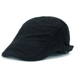 UV Protection Jeff Cap with Sewing Thread - BLACK