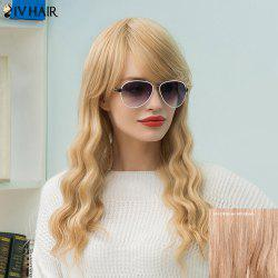 Siv Hair Long Slightly Wavy Side Bang Human Hair Wig