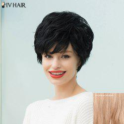 Siv Hair Short Curly Layered Capless Human Hair Wig