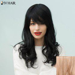 Siv Hair Long Curly Side Bang Human Hair Wig