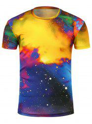 3D Colorful Tie Dye Trippy T-Shirt - COLORMIX