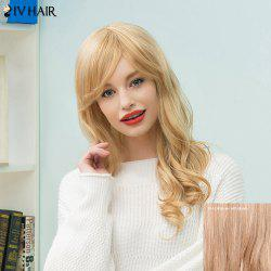 Siv Hair Long Wavy Side Bang Human Hair Wig