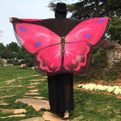 Cartoon Butterfly Wing Shape Cape Chiffon Scarf