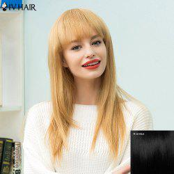 Siv Hair Long Straight Full Bang Human Hair Wig -