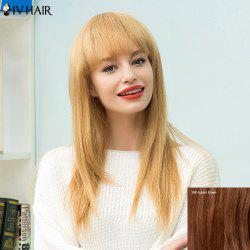 Siv Hair Long Straight Full Bang Human Hair Wig