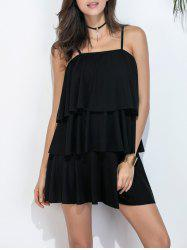 Flounce Mini Tiered Dress