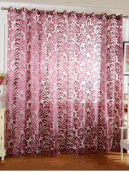 Home Decor Grommet Roller Embroidered Tulle Curtain -