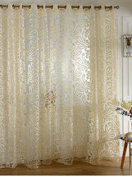 Home Decor Grommet Roller Embroidered Tulle Curtain