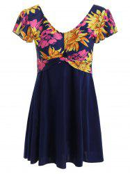 Floral Plus Size Swim Dress