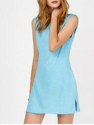 Backless Mini Oversized Tank Dress