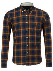 Button Down Pocket Plaid Shirt