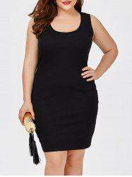Plus Size Short Sheath Tank Fitted Dress