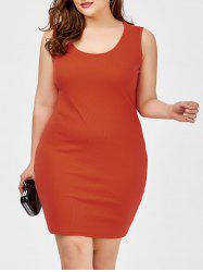 Plus Size Sheath Tank Casual Dress